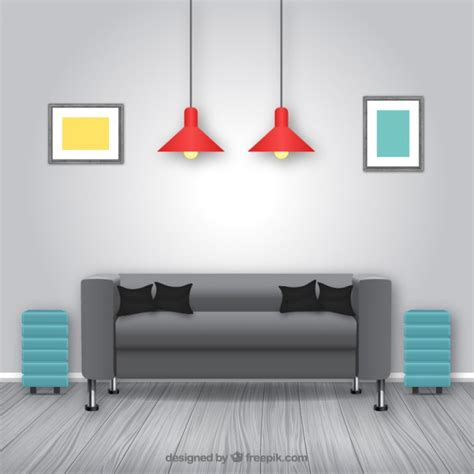 modern living room vector free