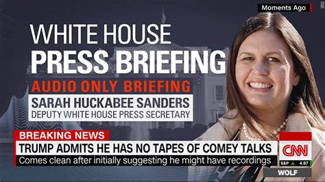 white house press briefing why are these white house briefings heard but not seen