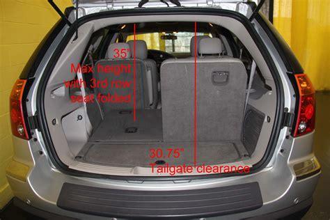 chrysler cargo chrysler pacifica cargo space dimensions