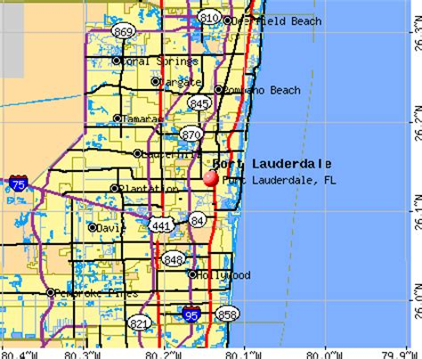 map of florida miami and fort lauderdale fort lauderdale florida fl profile population maps