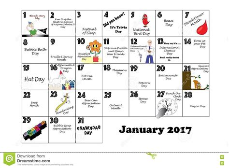 holidays and celebrations january 2017 calendar with holidays blank calendar 2018