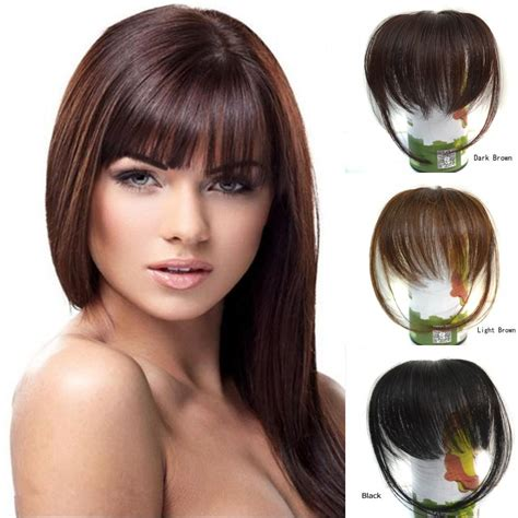 thin bangs hairpieces bang 10 20cm 100 real human hair bang fringe natural hair