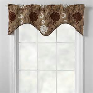 Brown Window Valance Brown Floral Scalloped Window Valance Tree