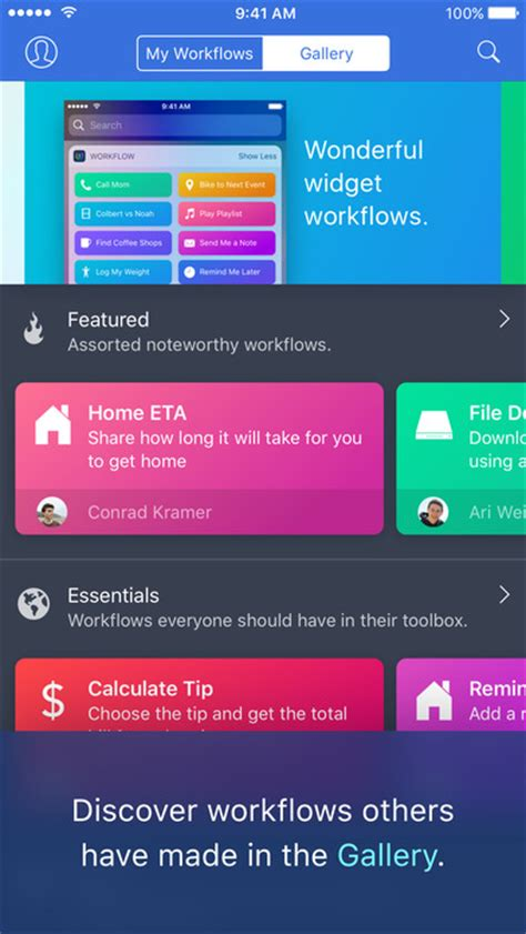 workflow iphone app workflow powerful automation made simple on the app store