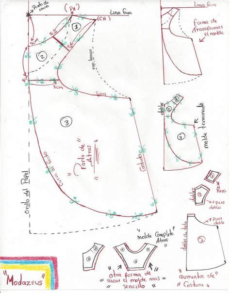 moldes y patrones patr 243 n moldes de blusa lia cana para ni 241 as cortada