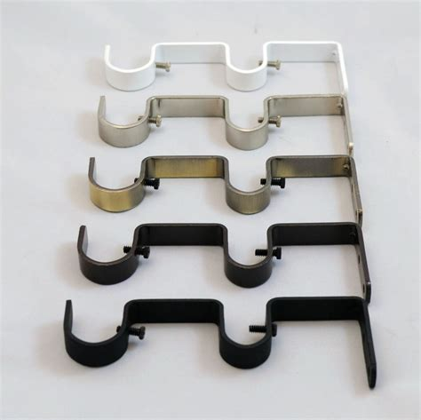 where to put brackets for curtain rod how to install double curtain rod brackets curtain