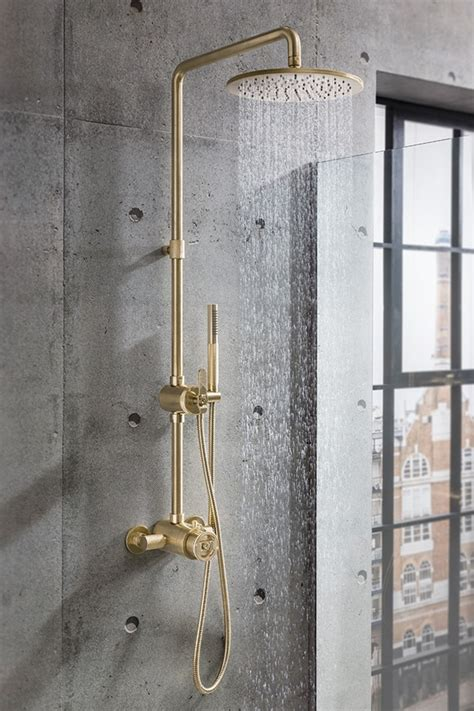 display crosswater union exposed shower kit brushed