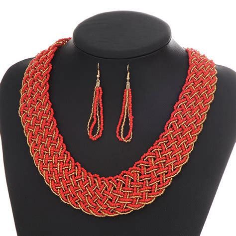 Kalung Korea Choker Pendant Decorated Hollw Out Weaving fashion hollow out decorated woven collar design asujewelry