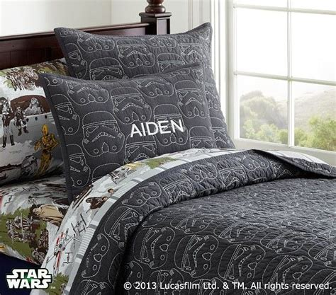 pottery barn star wars bedding star wars stormtrooper quilted bedding pottery barn