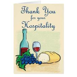 thank you for your hospitality card zazzle