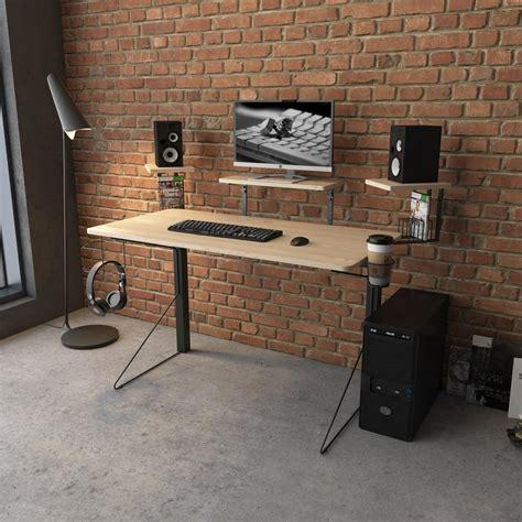 Gaming Desk by Jamesdar Carnegie Black Gaming Desk Jcdes866 Bk