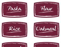 Custom Food Packaging Labels Printable And Adhesive Food Packaging Label Templates