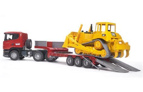 Mainan Anak Scania R Series Low Loader Truck With Cat Bulldozer bruder scania r series low loader truck cat bulldozer 03555