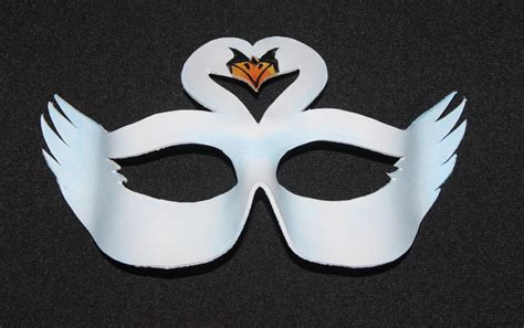 swan mask template leather swan mask by themotleymasquerade on deviantart