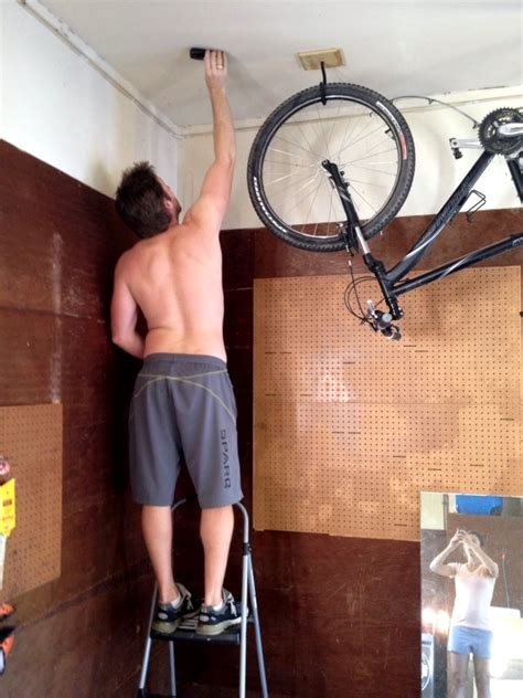 how to hang a bike from the ceiling c r a f t