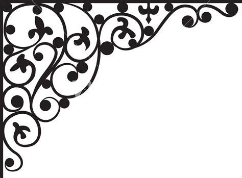 corner pattern vector cdr corner floral pattern vector