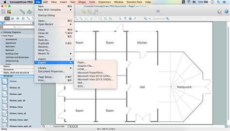 professional floor plan software interior design registers drills and diffusers design element
