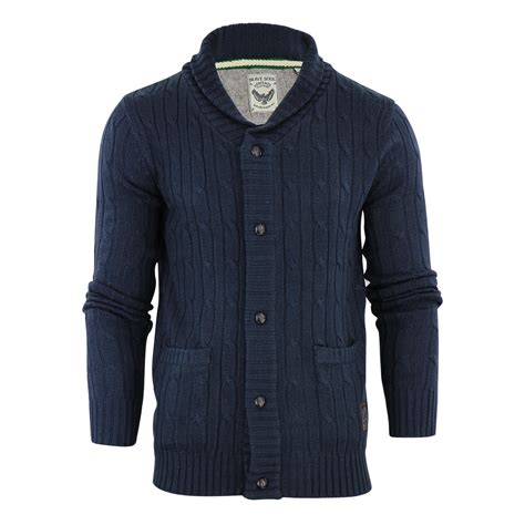 mens knit shawl cardigan mens cardigan jumper brave soul genghis cable knitted
