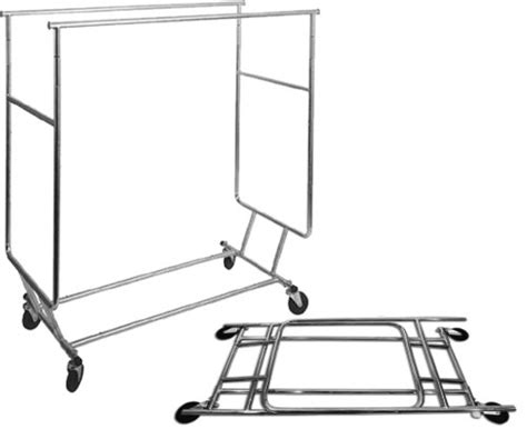 Salesman Rack Collapsible Rolling by Collapsible Salesman Rolling Rack With Hangrail