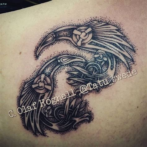 asatru tattoos huginn muninn hledat googlem