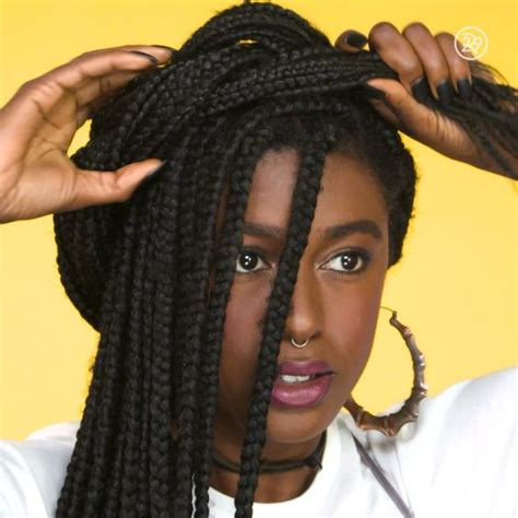 box braids for prom how to half crown braid video pinterest
