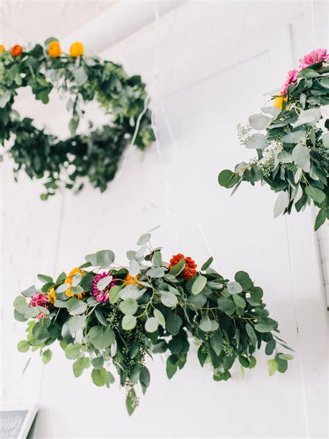 chandelier with flowers diy flower chandelier project wedding