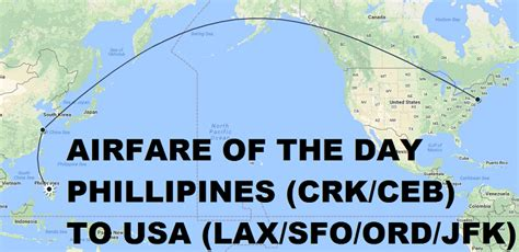 airfare of the day china eastern airlines philippines ceb crk to usa lax sfo ord jfk