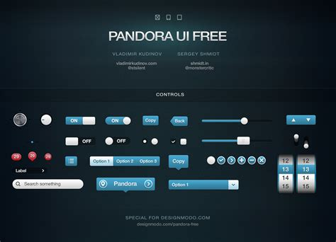 layout ui pandora ui free for ios user interface pack designmodo