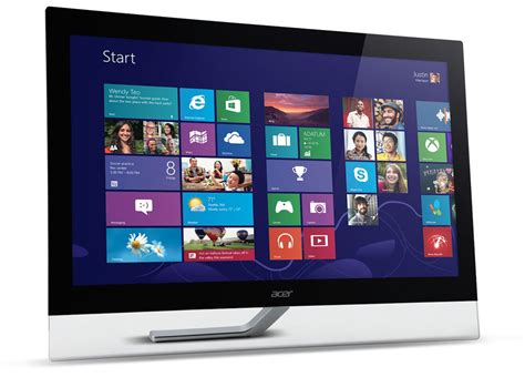 Dijamin Monitor Acer T232hl 23 Ips Touchscreen acer s new touchscreen monitors t232hl t272hl flatpanelshd