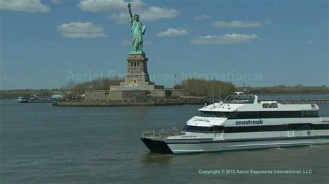 free boat to statue of liberty aerial video ferry statue of liberty youtube