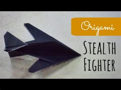 Origami Stealth Fighter - how to make an f16 jet fighter paper plane tadashi mori