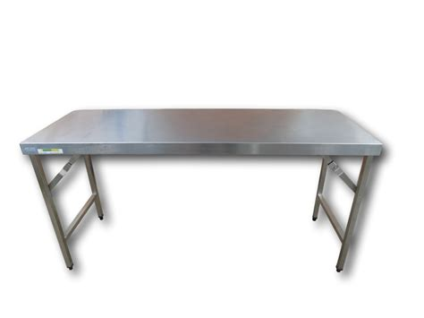 Stainless Steel Folding Table Gloucester Event Hire 1800mm Stainless Steel Prep Table Folding Legs