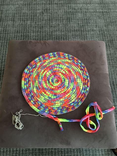 fabric crafts fleece made by me stitching polar fleece scrap strips into a
