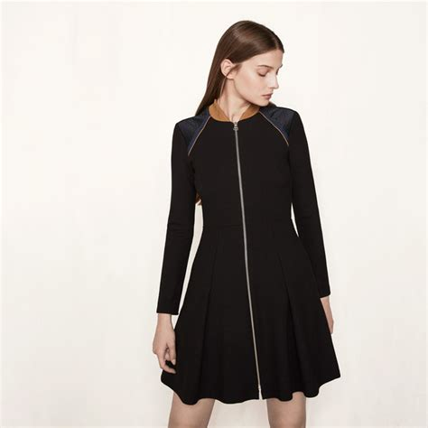 Raline Dress Navy how to wear a dress even when it s freezing wheretoget