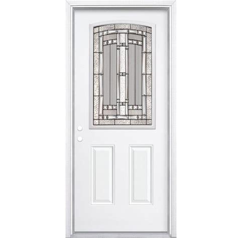 Masonite 36 Inch X 80 Inch Primed 2 Panel Plank Smooth 16 Inch Interior Door