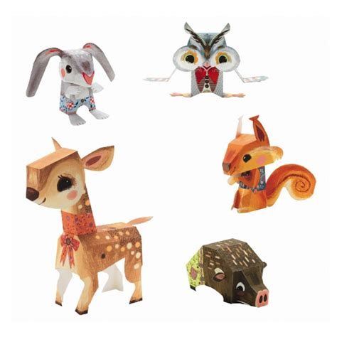 pretty animals paper folding jazams