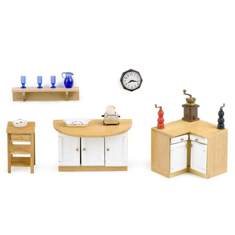 1 dollhouse furniture dollhouse kitchen furniture set 1 inch scale at hayneedle