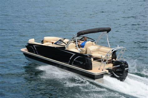 larson pontoon larson escape 25 ttt triple dc pontoon deck boat magazine