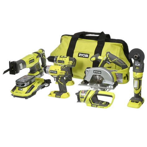 ryobi 18 volt one lithium ion ultimate combo kit 6 tool