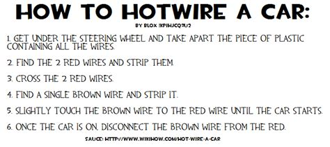 information thread how to hotwire a car