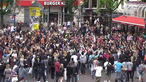 amsterdam museum flash mob michael jackson dance tribute amsterdam youtube