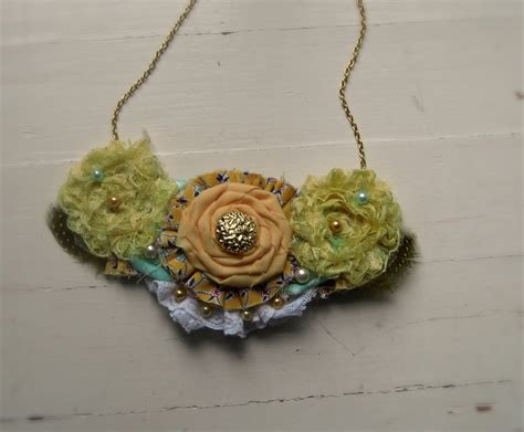 Handmade Fabric Necklaces - handmade fabric necklace