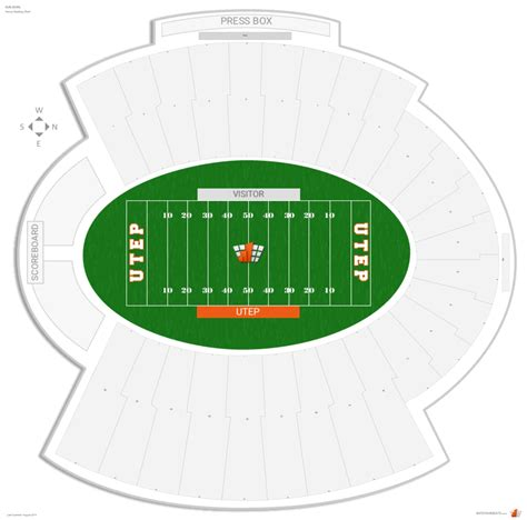 sun seating chart sun bowl utep seating guide rateyourseats
