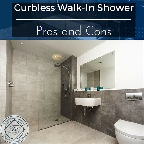 curbless shower curbless walk in shower pros and cons flemington granite