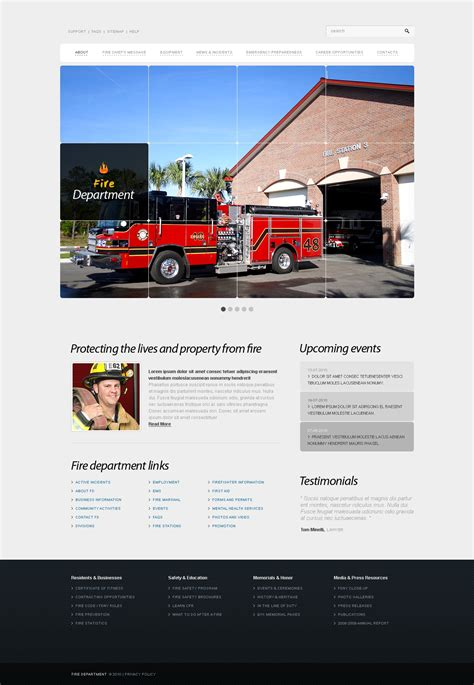 Fire Department Website Template 30175 Free Department Website Templates