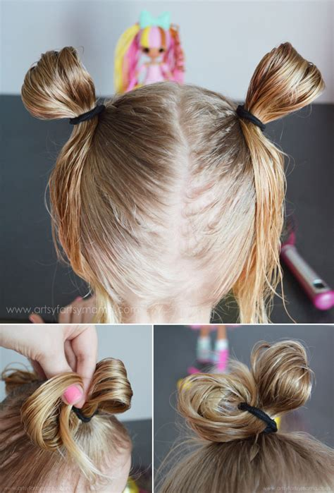 easy hairstyles that only use 3 packs of yaki weave boxbraids crazy hair day with lalaloopsy girls artsy fartsy mama
