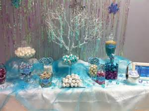 Sweet Buffet Table Ideas Frozen Candy Buffet For My Daughter S 8th Birthday Party