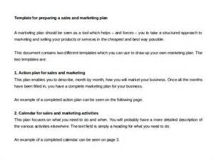 sales marketing plan template sales plan template 11 free word excel pdf