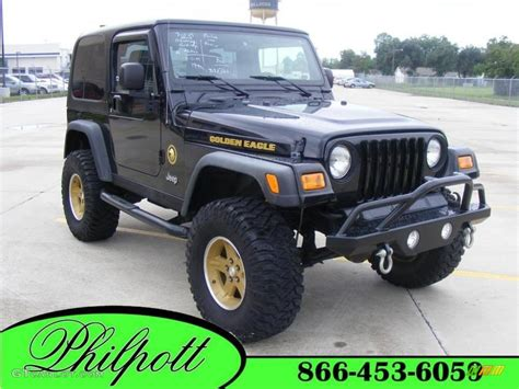 Jeep Eagle 2006 Black Jeep Wrangler Sport 4x4 Golden Eagle 18032255