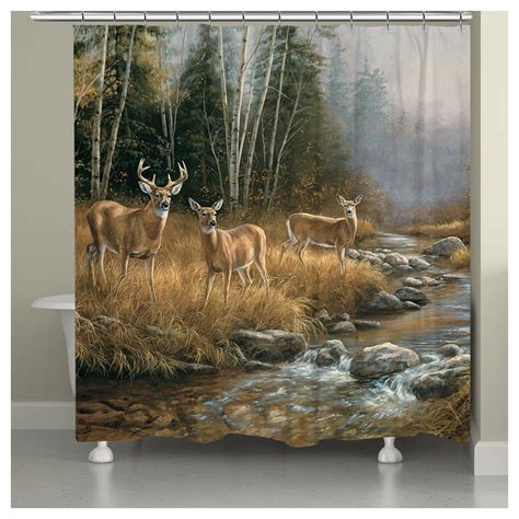 deer shower curtain deer stream shower curtain
